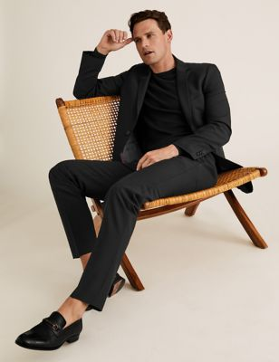 The Ultimate Black Slim Fit Trousers