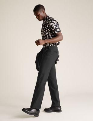 The Ultimate Black Regular Fit Trousers