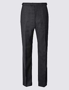 Herringbone Regular Fit Trousers