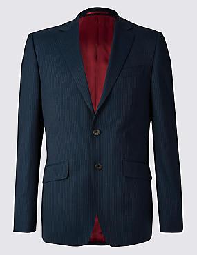 Big & Tall Navy Regular Fit Wool Suit