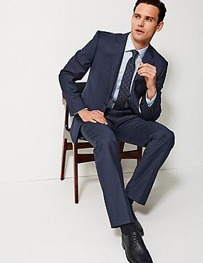 Navy Regular Fit Wool Suit