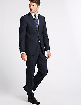 Big & Tall Navy Slim Fit Wool Suit