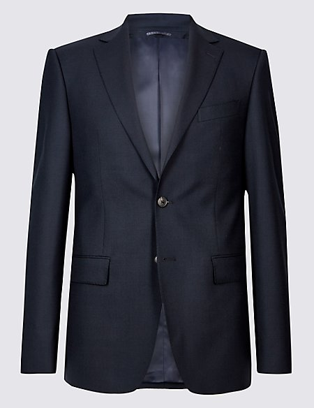 Big & Tall Navy Regular Fit Wool Jacket