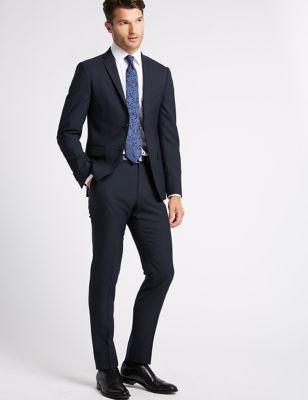 Big & Tall Navy Skinny Fit Wool Jacket