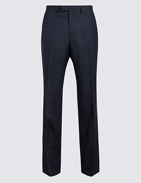 Big & Tall Navy Slim Fit Wool Trousers