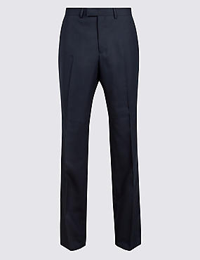 Big & Tall Navy Slim Fit Wool Trousers