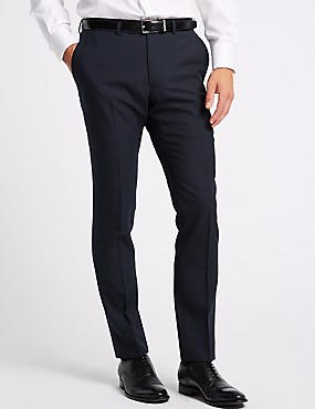 Big & Tall Navy Modern Slim Fit Wool Trousers