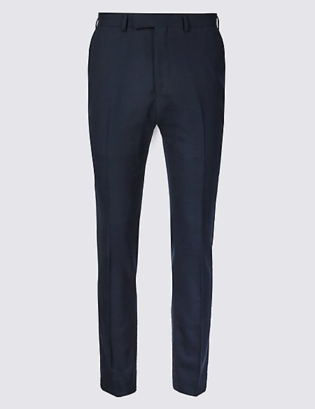 Big & Tall Navy Modern Slim Fit Wool Trousers