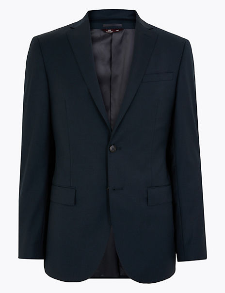 Tailored Fit Wool Rich Jacket