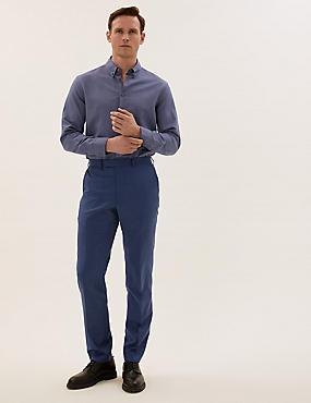 Pantalón azul de corte sastre de lana