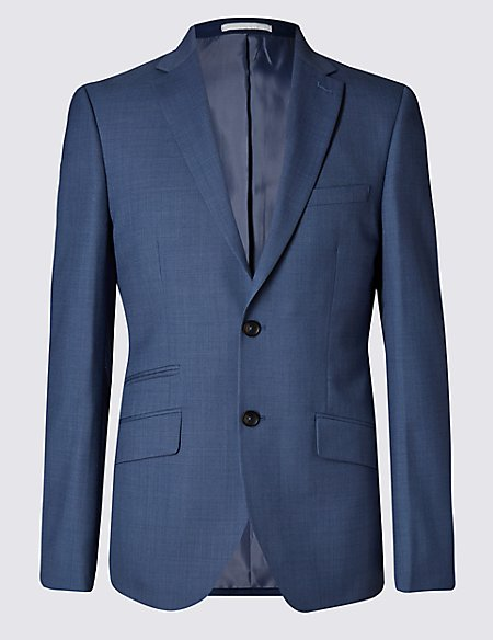 Blue Tailored Fit Jacket