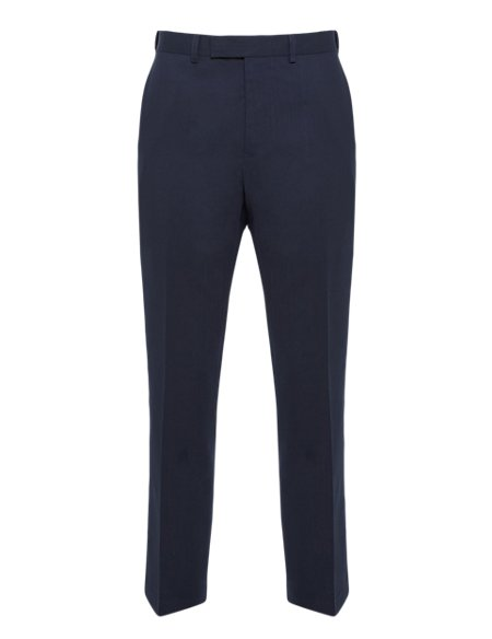 Ultimate Performance Flat Front Twill Trousers with Wool