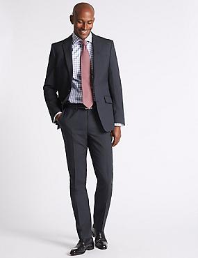 Navy Striped Slim Fit Suit