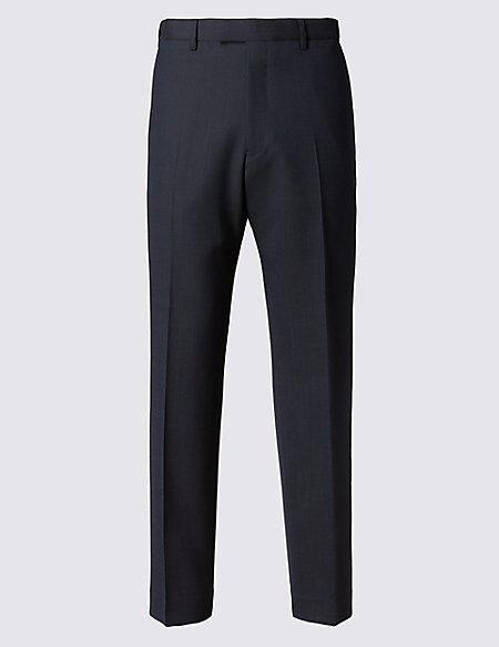 Big & Tall Navy Striped Regular Fit Trousers