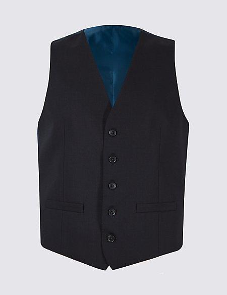 Navy Regular Fit Waistcoat