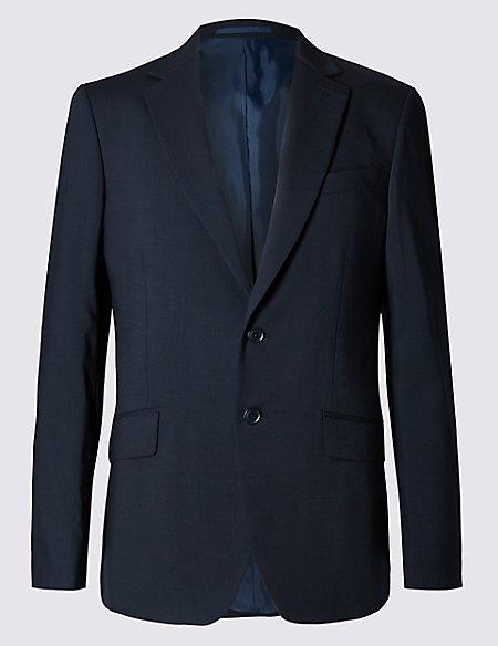 Navy Tailored Fit Jacket