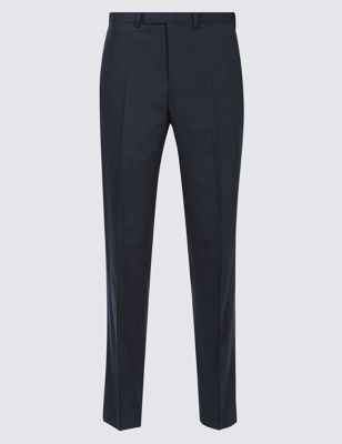 Navy Slim Fit Trousers by Marks & Spencer