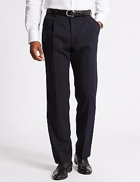 Navy Regular Fit Trousers