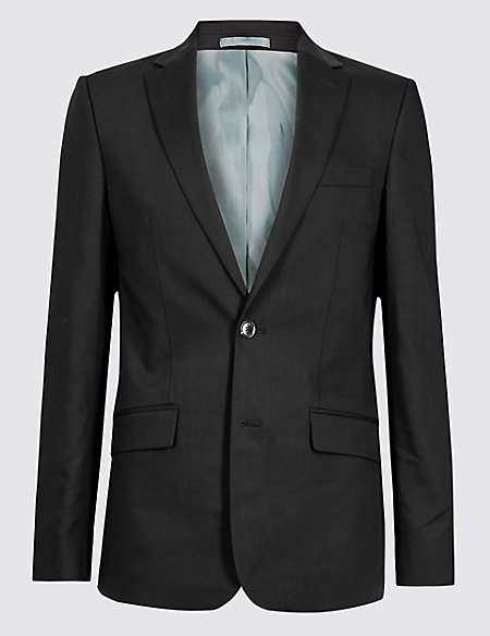 Black Slim Fit Jacket