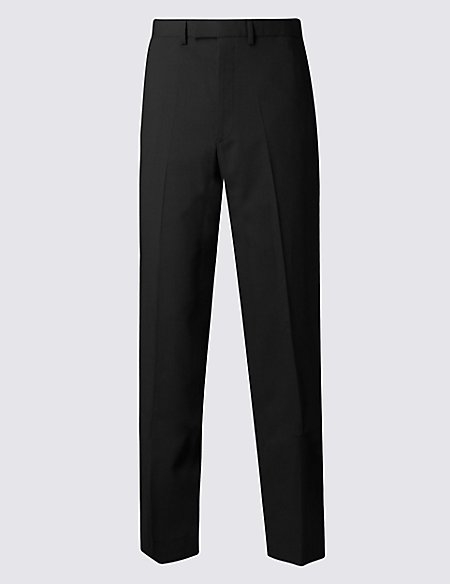 Big & Tall Black Regular Fit Trousers