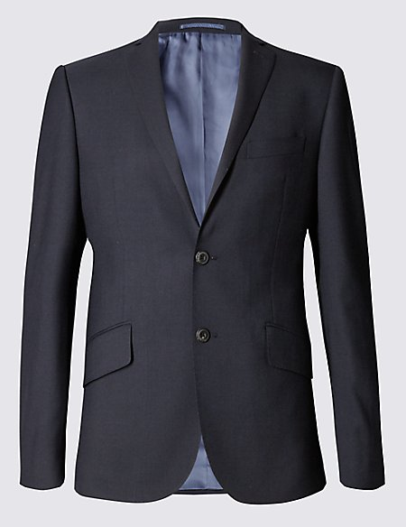 Big & Tall Navy Slim Fit Wool Jacket