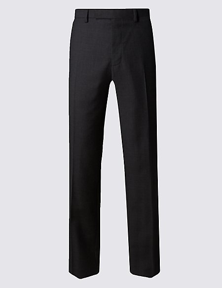 Pure New Wool Slim Fit Supercrease™ Flat Front Trousers