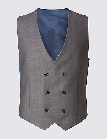 Pure Wool Double Breasted Waistcoat