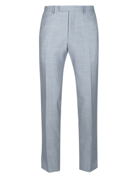 Pure Wool Flat Front Trousers