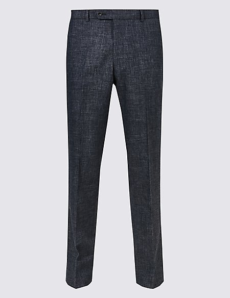 Linen Miracle Slim Fit Trousers