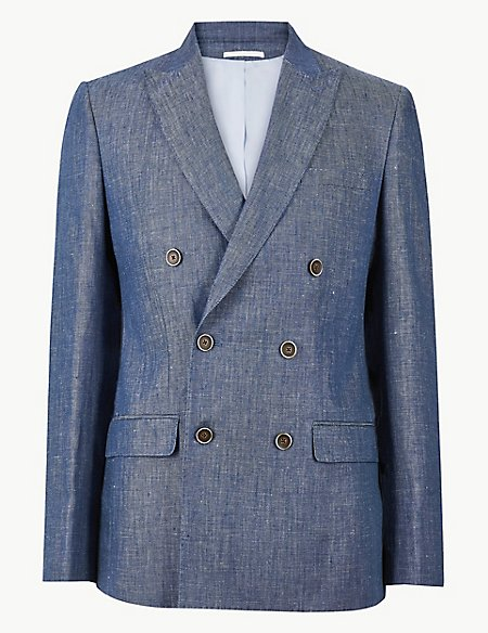 Tailored Fit Linen Jacket