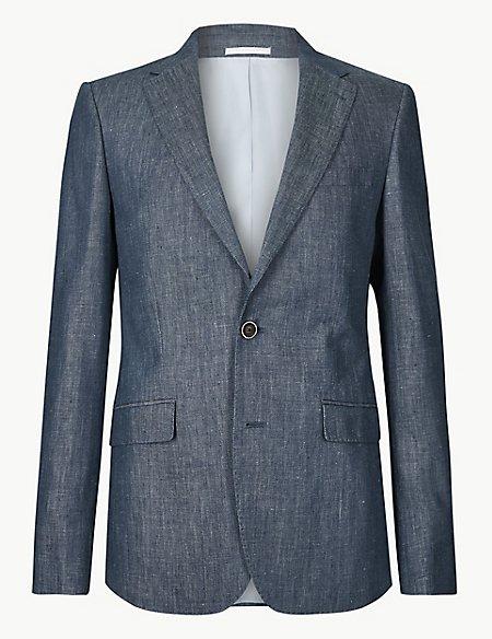 Slim Fit Linen Jacket