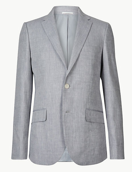 Tailored Fit Linen Miracle Jacket