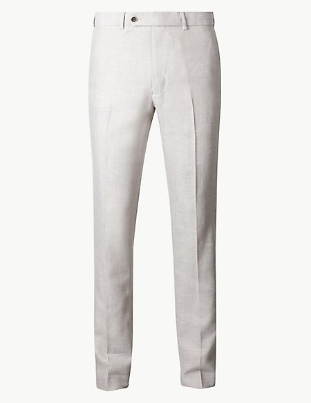 Slim Fit Linen Miracle Trousers