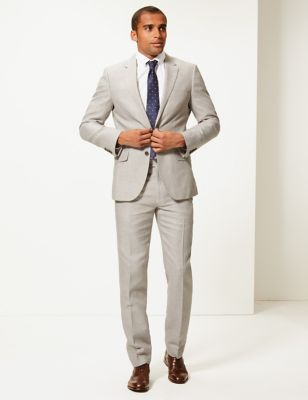 Big & Tall Tailored Fit Linen Miracle Trousers