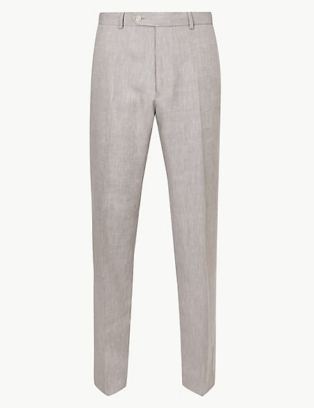 Regular Fit Linen Miracle Trousers