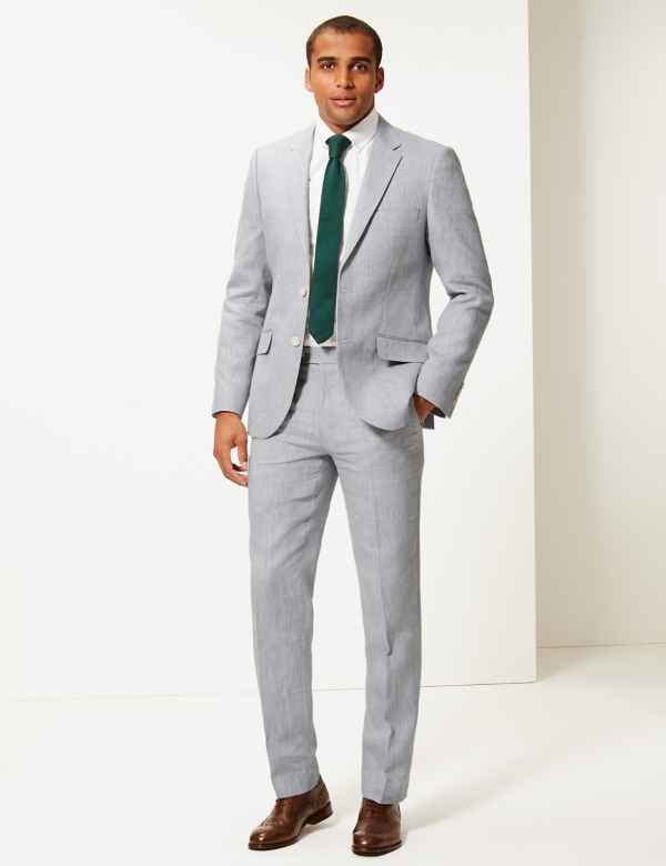 947ecf029a8 Tailored Fit Linen Miracle Trousers