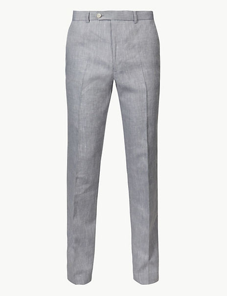 Tailored Fit Linen Miracle Trousers