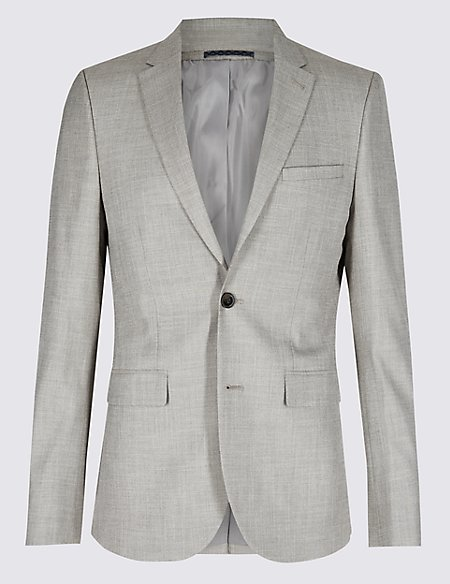 Textured Modern Slim Fit Jacket