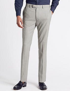Textured Modern Slim Fit Trousers