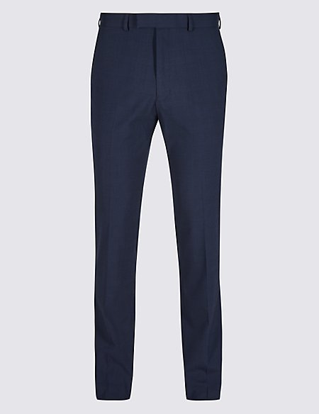 Indigo Checked Slim Fit Trousers