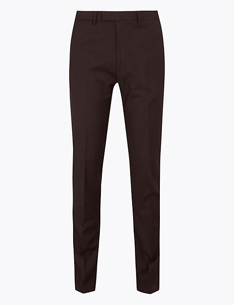 Textured Skinny Fit Trousers with Stretch