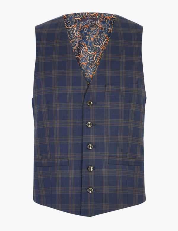 3e362b563185 Skinny Checked Waistcoat