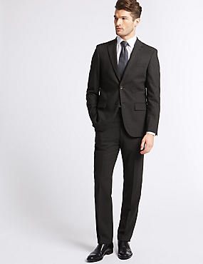 Charcoal Tailored Fit Travel Suit