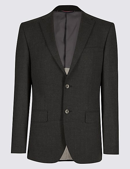 Charcoal Tailored Fit Jacket