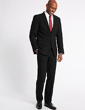 Black Tailored Fit Travel Suit