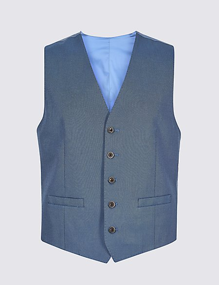 Cotton Rich Tailored Fit Waistcoat
