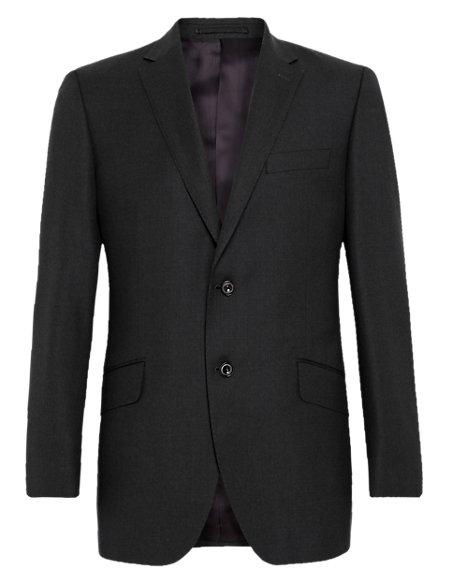 Pure New Wool Birdseye 2 Button Jacket