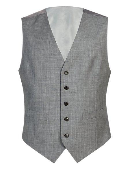 Lightweight Pure Wool 5 Button Waistcoat