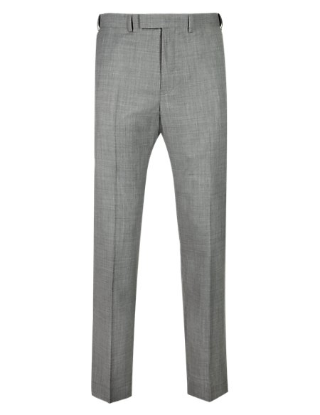 Pure Wool Lightweight Flat Front Trousers