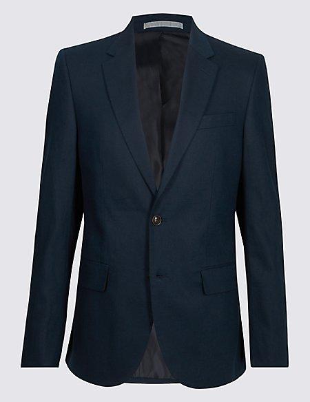 Linen Blend Regular Fit Jacket